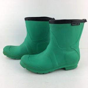 Green Kamik Short Rain Boots